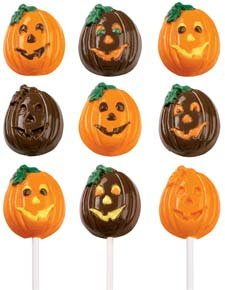 Lollipop Candy Mold: Jack-O-Lantern ()