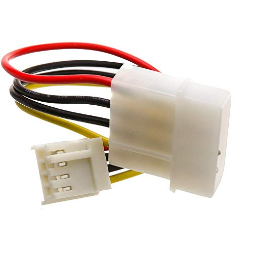 GOWOS 4 Pin Molex to Floppy Power Cable, 5.25 inch Male to 3.5 inch Female, 6 inch