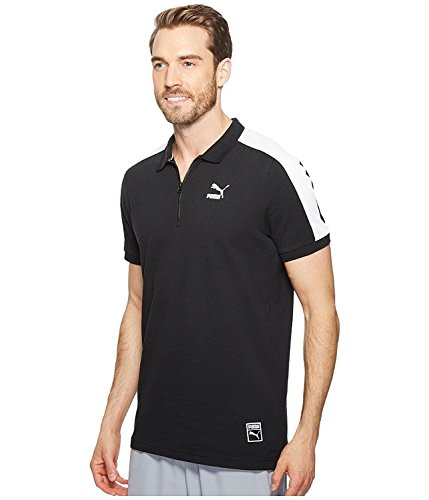 Puma Mens Colorblock Polo Shirt Black