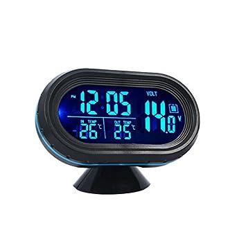 Auto LED Digitaluhr Thermometer Indoor Outdoor Temperatur Spannung Meter