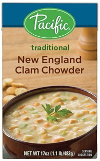 New England Clam Chowder - Pacific Foods New England Clam Chowder, 17 Ounce (Pack of 12)