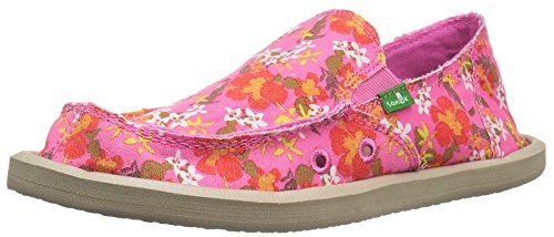 Sanuk Kids Donna Girls Slip On (Toddler/Little Kid/Big Kid), Paradise Pink Waikiki Floral, 3 M US Little Kid