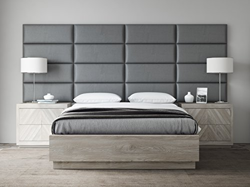 Pewter 30' Storage (VANT Upholstered Headboards - Accent Wall Panels - Packs Of 4 - Vintage Leather Gray Pewter - 30