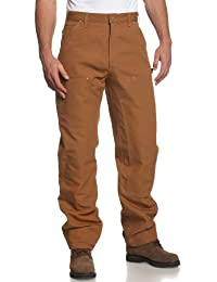 Men's Double Front Duck Utility Work Dungaree Pant B01