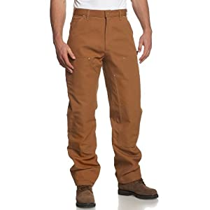 Carhartt Men's Firm Duck Double- Front Work Dungaree Pant B01