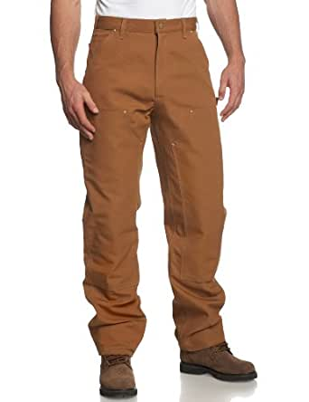 Carhartt Men's Double Front Duck Utility Work Dungaree B01,Carhartt Brown,28 x 30