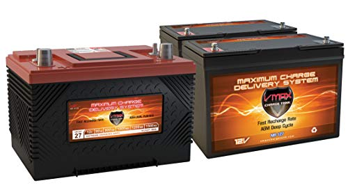XCA27 & 2 MR127 AGM 1K MCA for Marine Gas Engine & 100AH DEEP Cycle AUX Battery