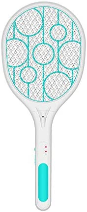 Moobom Home Electric Mosquito Swatter Fly Killer Bug Zapper Racket Insects Killer Cordless Battery Power Mosquito Trap Swatter;Home Electric Mosquito Swatter Fly Killer Bug Zapper Racket Insects Killer