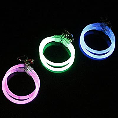 Fun Central 6 Pack - 2.5 Inch Glow Hoop Earrings Bulk Party Favors - Assorted Colors: Toys & Games