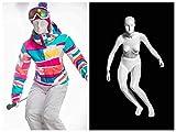 (MZ-F-SKI) ROXYDISPLAY™ Abstract Head, Glossy White, Female SKI Fullbody Mannequin