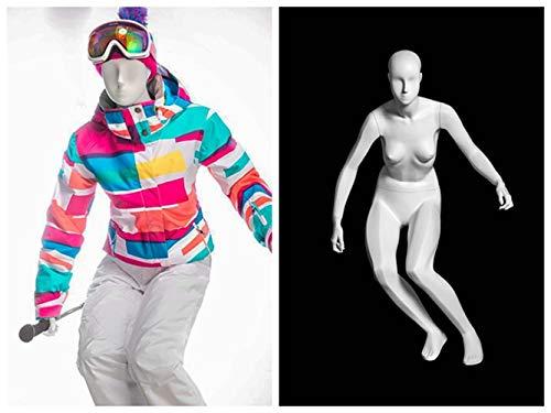 (MZ-F-SKI) ROXYDISPLAY™ Abstract Head, Glossy White, Female SKI Fullbody Mannequin by ROXYDISPLAY™ (Image #6)