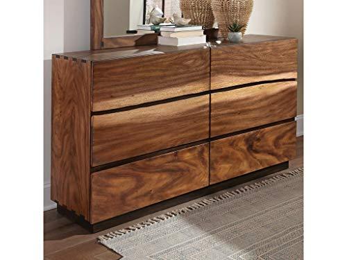Scott Living 212433 Smokey Walnut, Coffee Bean Madden 6-Drawer Dresser