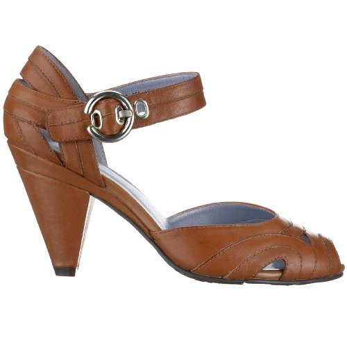 Hush Puppies Kvinnor Legato Ankel-rem Pump Tan Läder
