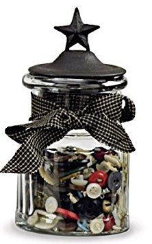 Park Designs Black Star Small Glass Jar