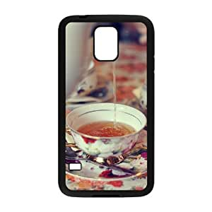 Afternoon Tea Custom Cover Case with Hard Shell Protection for SamSung Galaxy S5 I9600 Case lxa#411612