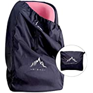 Himal Car Seat Travel Bag - Excellent Gate Check Bag for Airport, Easy Carry with Shoulder Strap and Waist Strap, Protects Universal Child's Car Seat for Travel, Black