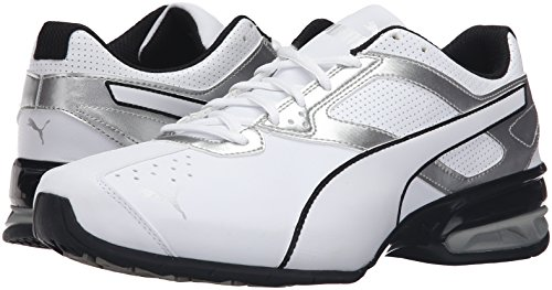 PUMA Men's Tazon 6 FM Puma White/ Puma Silver Running Shoe - 7.5 D(M) US by PUMA (Image #6)