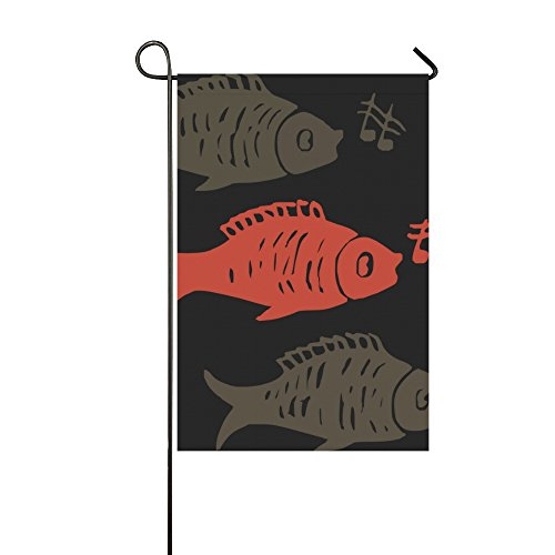 Home Decorative Outdoor Double Sided Fish Animals Music Sing