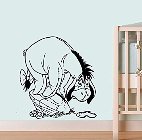 Eeyore and Caterpillar Wall Mural Walt Disney Movie Vinyl Poster Winnie The Pooh Wall Vinyl Decal Decor for Home Child Kids Room Graphic Baby Nursery CSp12