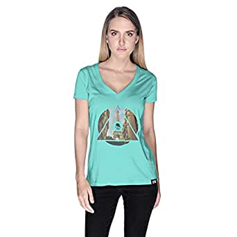 Creo Paris T-Shirt For Women - Xl, Green