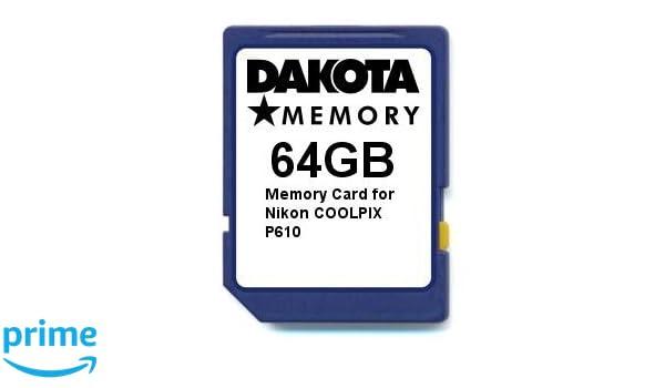 Tarjeta de Memoria para Nikon COOLPIX P610 (64 GB): Amazon.es ...