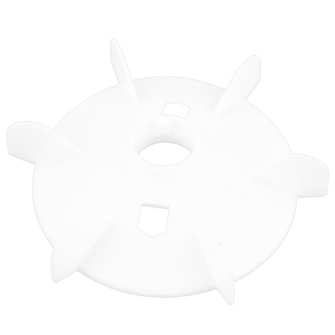 uxcell 42mm Center Bore White Plastic Machine Ventilation Vacuum 6-Impeller Motor Fan Paddle