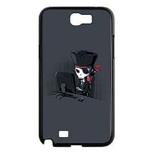 Samsung Galaxy N2 7100 Cell Phone Case Black fun pirate hacker LSO7750312