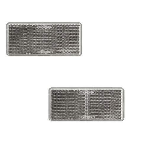 selbstklebend Set Reflektor//Katzenauge//R/ückstrahler Weiss 94 x 44 mm