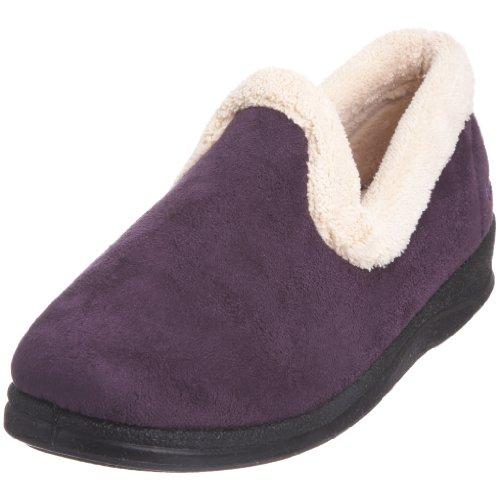 Padders Repose - Zapatillas de casa de tela para mujer Morado
