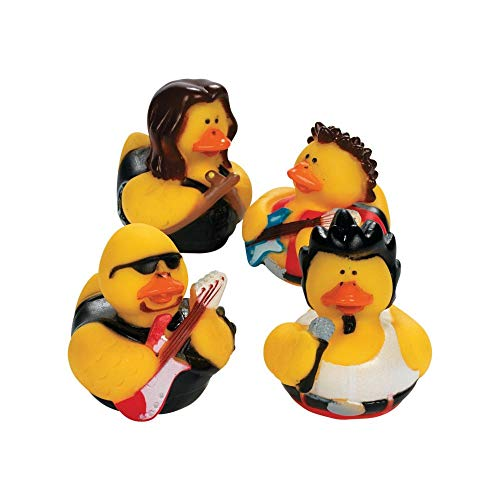 Fun Express Rock Star Rubber Duckies Toy (12 -