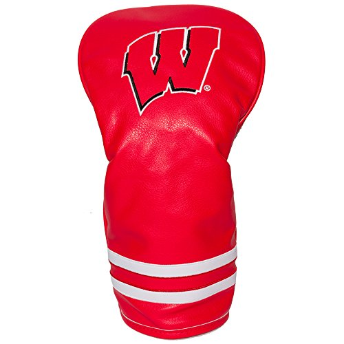 Team Golf NCAA Wisconsin Badgers Vintage Driver Golf Club Headcover, Form Fitting Design, Retro Design & Superb Embroidery