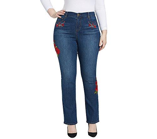 Bandolino-Plus-Size-Mandie-Cherry-Rose-Patch-Jeans