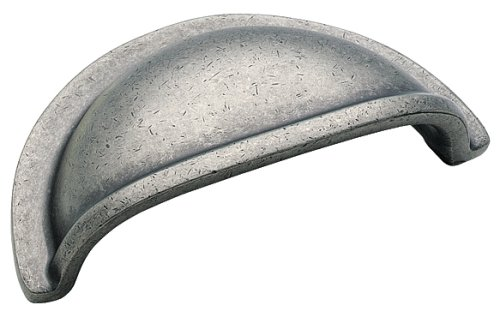 Amerock BP4235-WN Solid Brass 3-Inch Cup Pull, Weathered (Amerock Weathered Nickel)