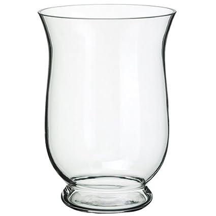 Amazon Silksareforever 10 Hx7 W Hurricane Glass Vase Clear