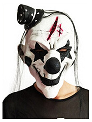 wanture Halloween Devil Clown Mask Costume Cosplay Party Show Masquerade Mask (Youth Devil Costume)