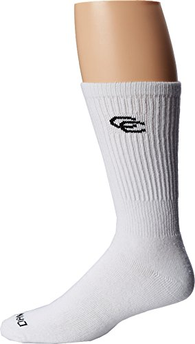 Dan Post Men's Dan Post Cowboy Certified All Around Crew Socks 4 Pack White Socks 10 (Men's Shoe 10.5-13)