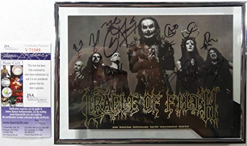 Signed Cradle Of Filth Autographed Photo Card Certified Authentic Jsa # V70349