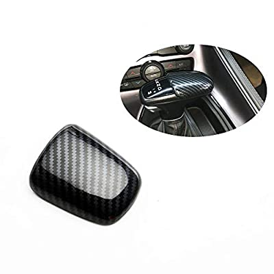 fit for 16-20 Dodge Challenger charger Gear shift knob carbon fiber look cover trim kit: Automotive