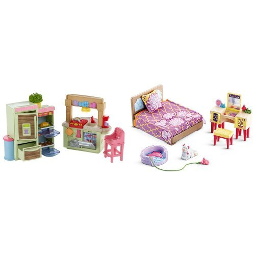 Fisher Price Loving Family Kitchen and Parent's Bedroom B...