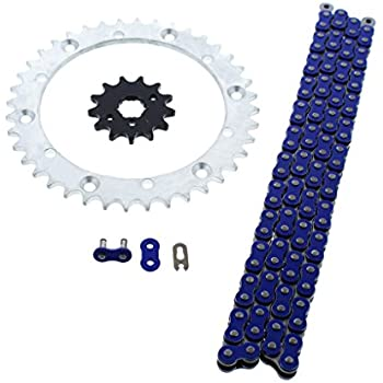 520 Blue Chain 98 Links Yamaha Warrior 350 YFM350X 1989-2004 2003 2002 2001 2000
