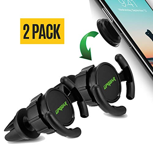 UPGear Pop Out Clip Car Mount & Holder for Cell Phone [2 Pack] - Air Vent Clip Designed for Android or iPhone with Pop Out Clip || Sturdy Mount with 360 Degrees Grip & Lock for GPS Navigation