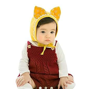6f5fa69a69d0f K-youth Lindo Sombreros Bebé Niña Oreja de Conejo Orejeras orras Bebé  Recién Nacido Moda Invierno Gorras para Niñas y Niños  Amazon.es  Ropa y  accesorios