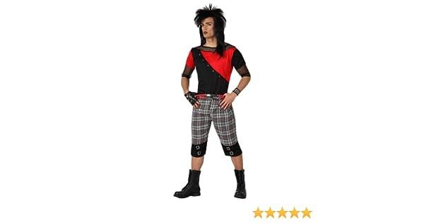 Atosa- Disfraz hombre punky, Color rojo, M-L (15471): Amazon.es ...