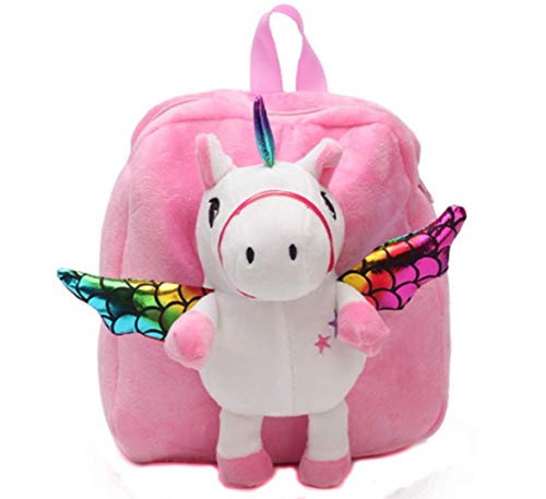 Soft Plush Huggable Backpack for Kid Toddler - Adorable Plushie Toys and Gifts (LitePink Unicorn)