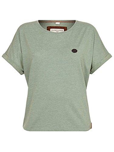 4cfdb3e133d Naketano Women's Shirt Hoch Die Hände II Heritage Green Melange, L