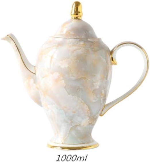 Opak Juego de té de Tetera de cerámica Europea de mármol, cafetera ...