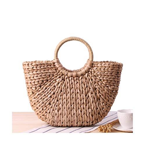 da Sunonip Shopping fatte di paglia da Vintage Borse Borsa Style Borse a viaggio 2 spiaggia mano estive viaggio da Borse di grande tYqwfw