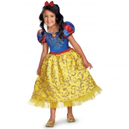 Making Snow White Costume (Disguise Disney's Snow White Sparkle Deluxe Girls Costume, 3T-4T)