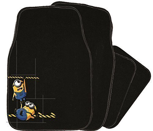 Merchandiseonline Minions/Despicable Me - 4 Piece Car Floor Mats Set (Embroidered Minions)