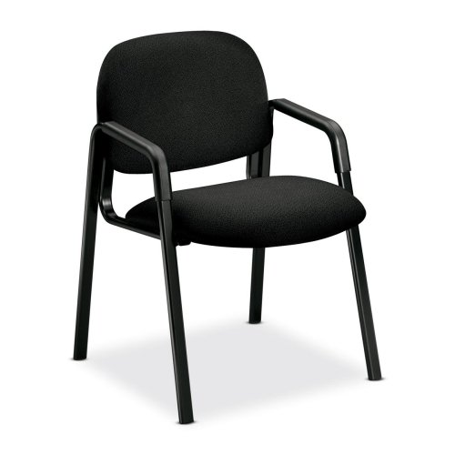 HON Solutions Seating 4003 Guest Chair - Black Seat - Polymer Back - Steel Black Frame - 23.5quot; x 24.5quot; x 32quot; Overall Dimension ()